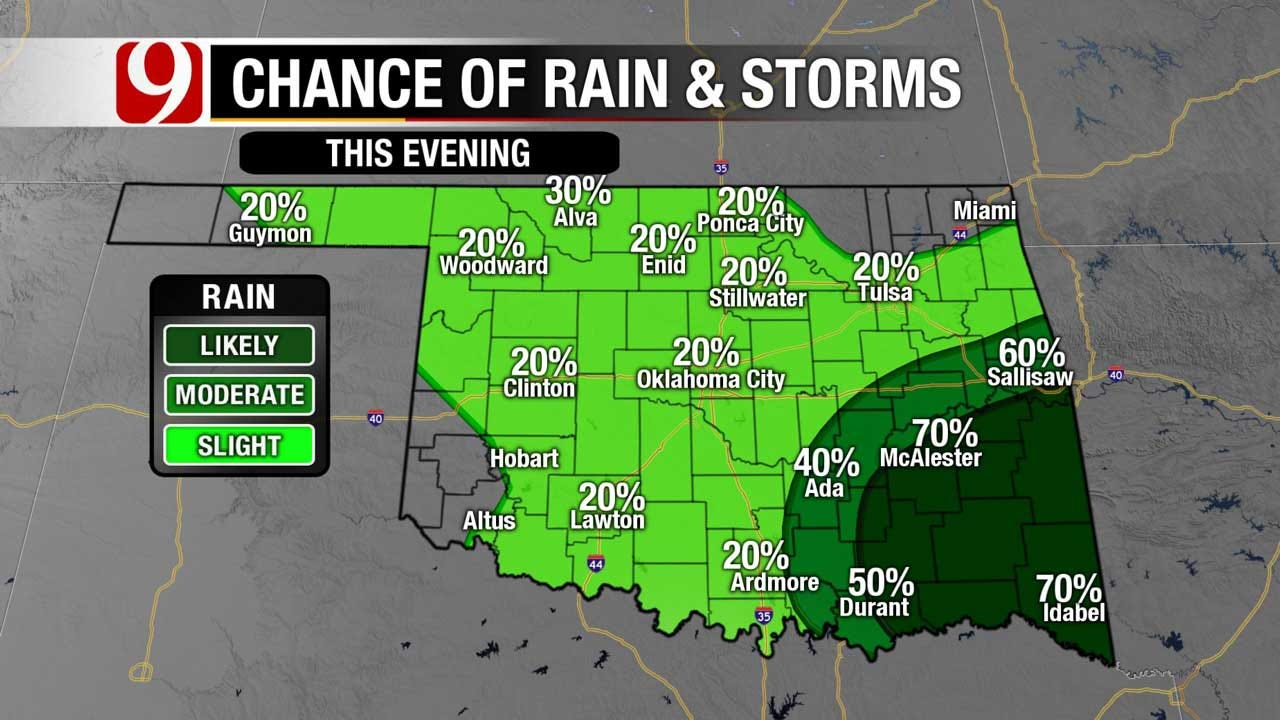 Cold Front Sweeps Through The State, Overnight Showers And Storms Possible