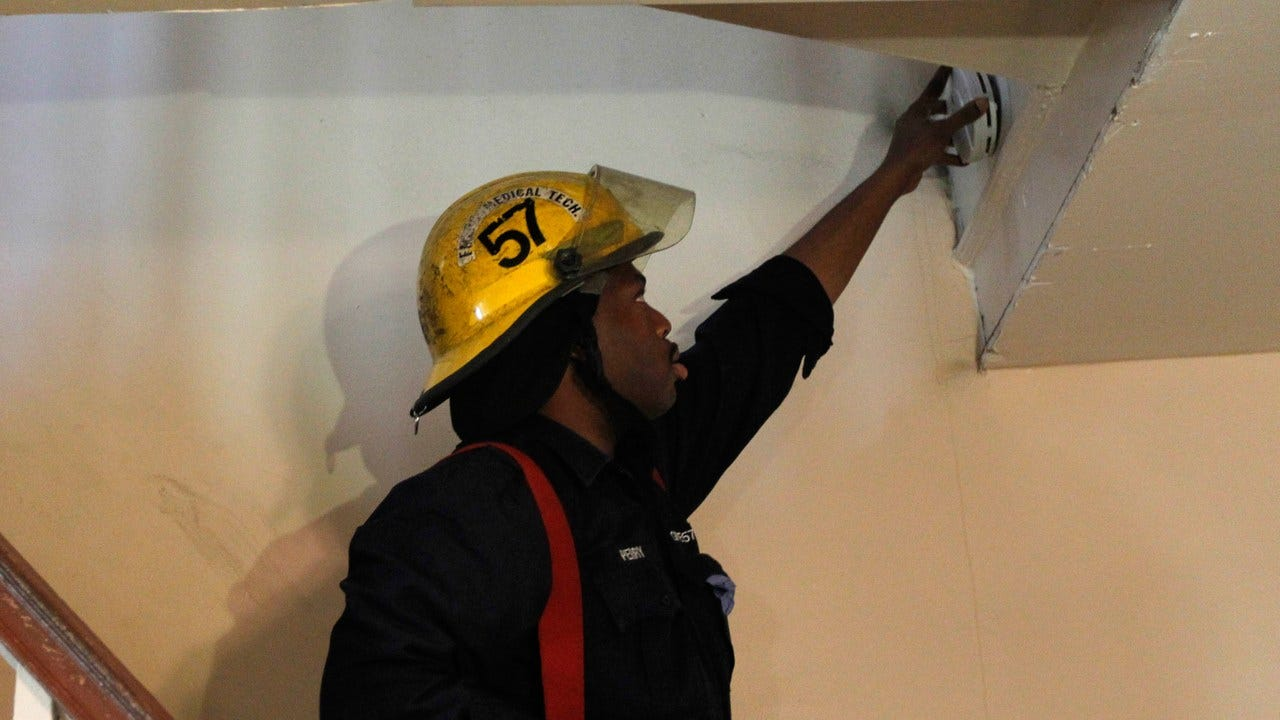 Midwest City FD Installing Free Smoke Detectors Today