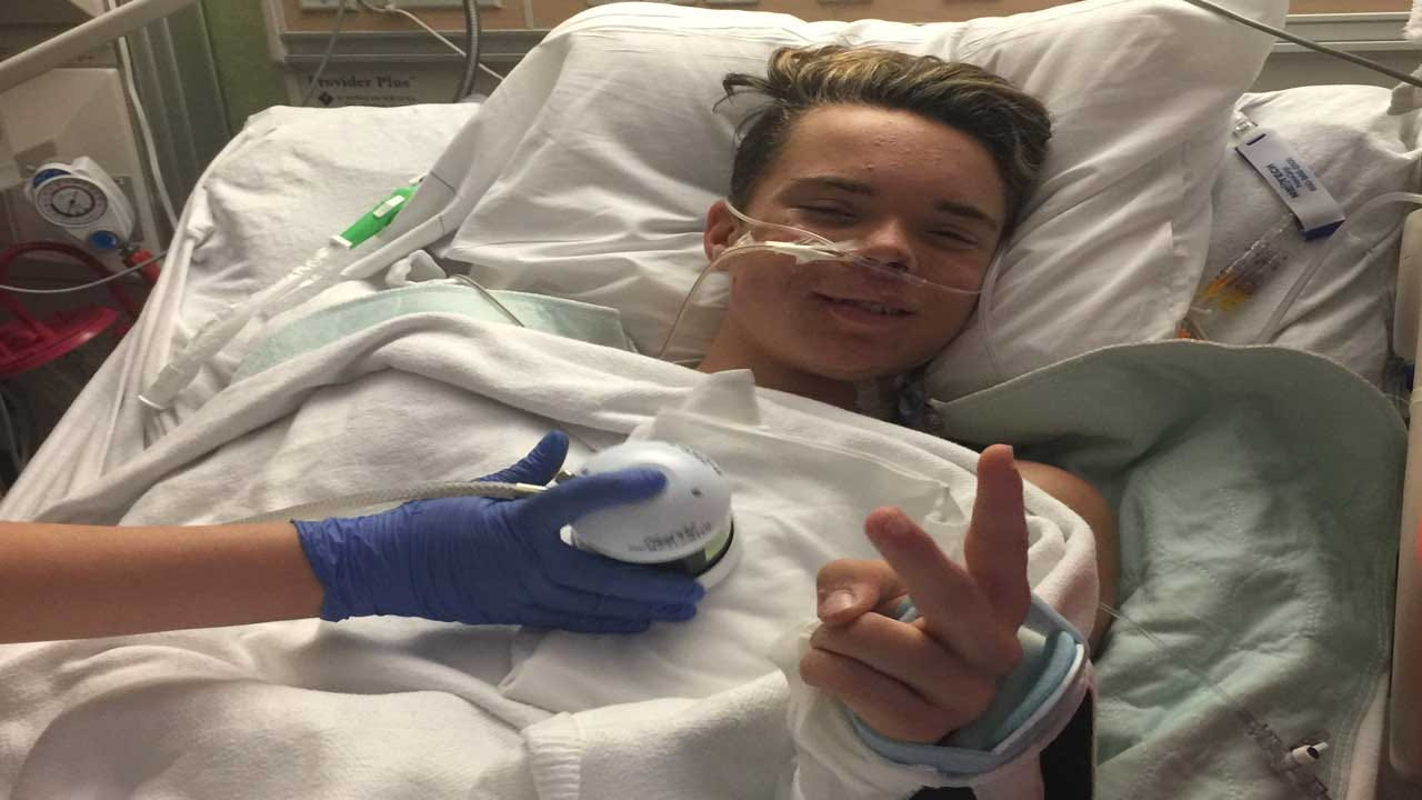 Union City Police Officer's Son Wakes From Coma