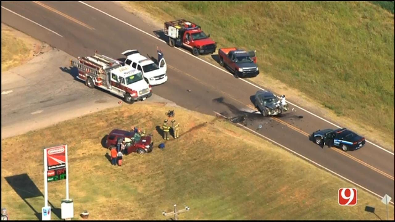 Crews Respond To Crash, With People Trapped Inside, Near Luther