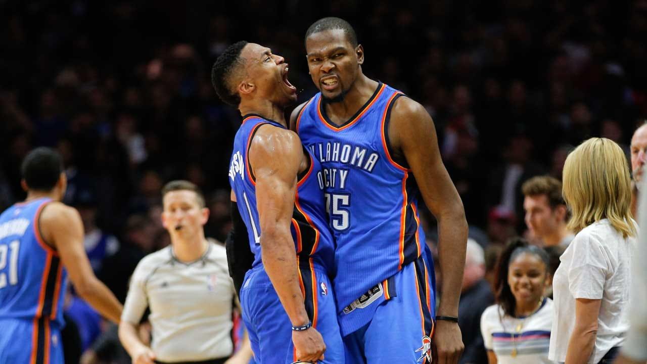 Durant Congratulates Westbrook For Winning MVP