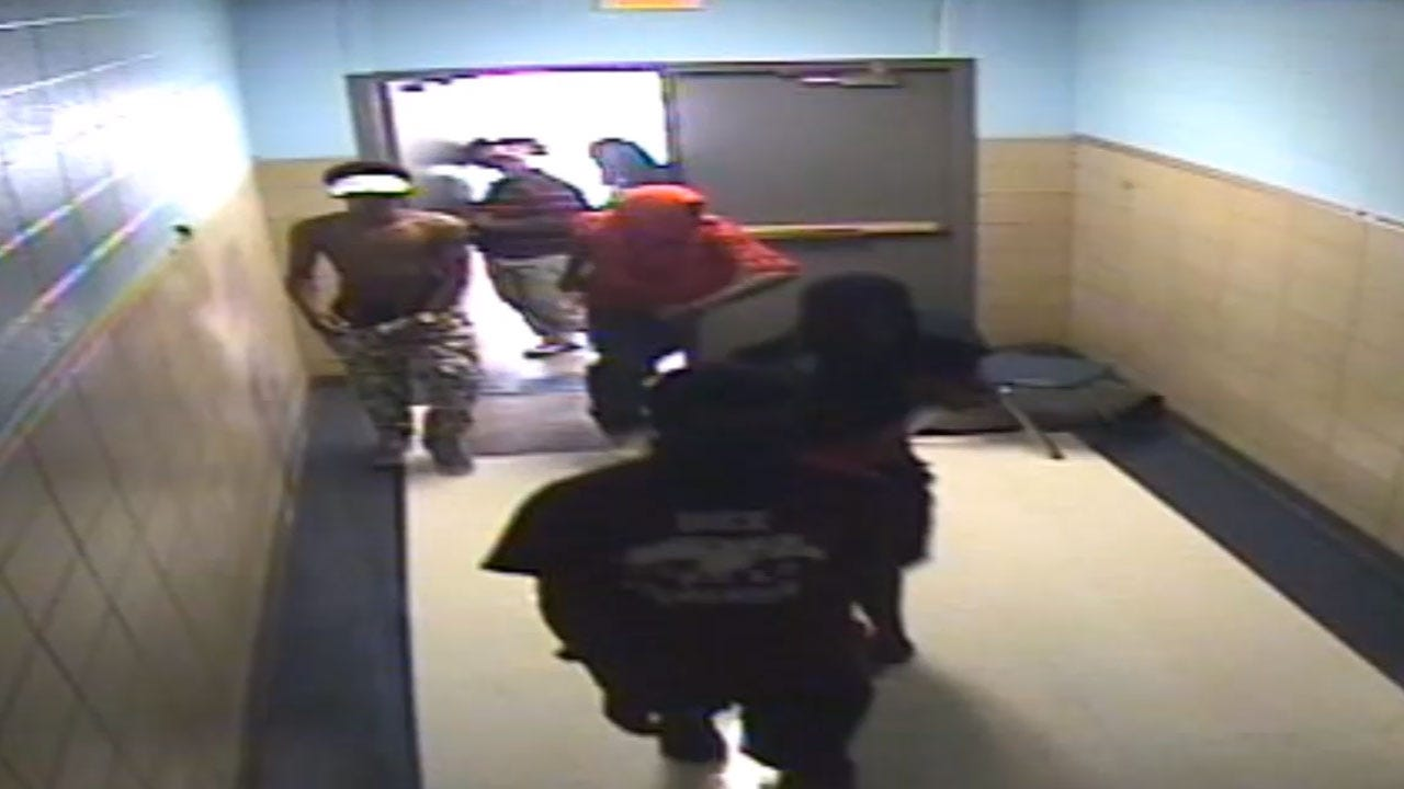 Surveillance Video Of Vandals Destroying OKC Elementary School Released