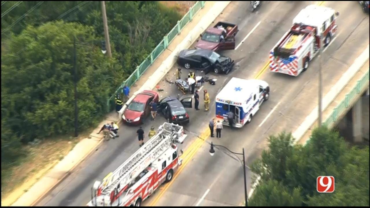 Multiple Injuries, Vehicles Reported After Crash In NE OKC