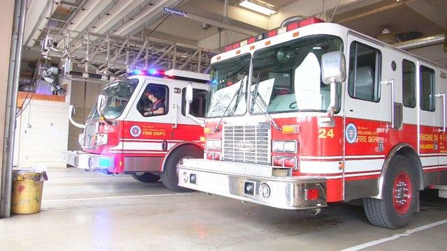 OKCFD Respond To Metro Bus Fire