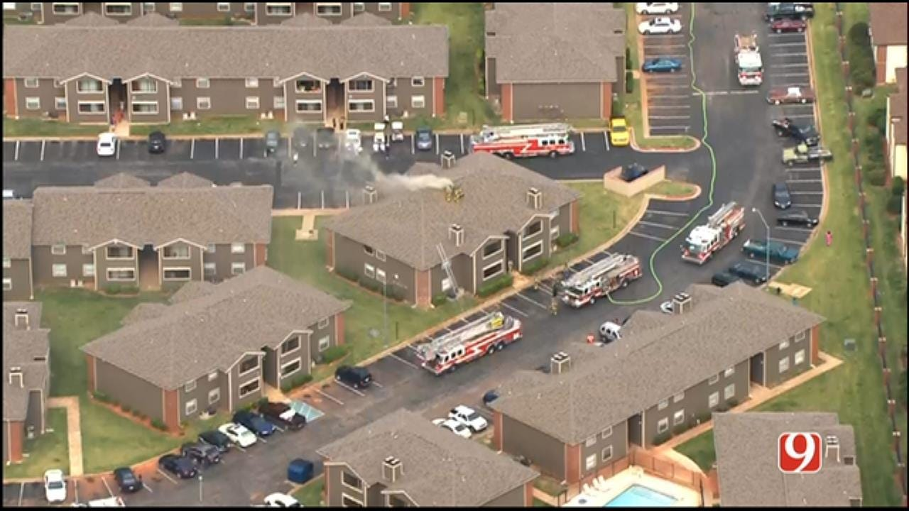 Residents Evacuated As Crews Battle NW OKC Apartment Fire