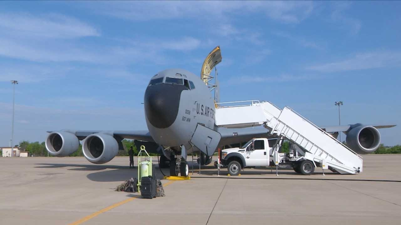 News 9 Flies With Tinker's 507th Air Refueling Wing