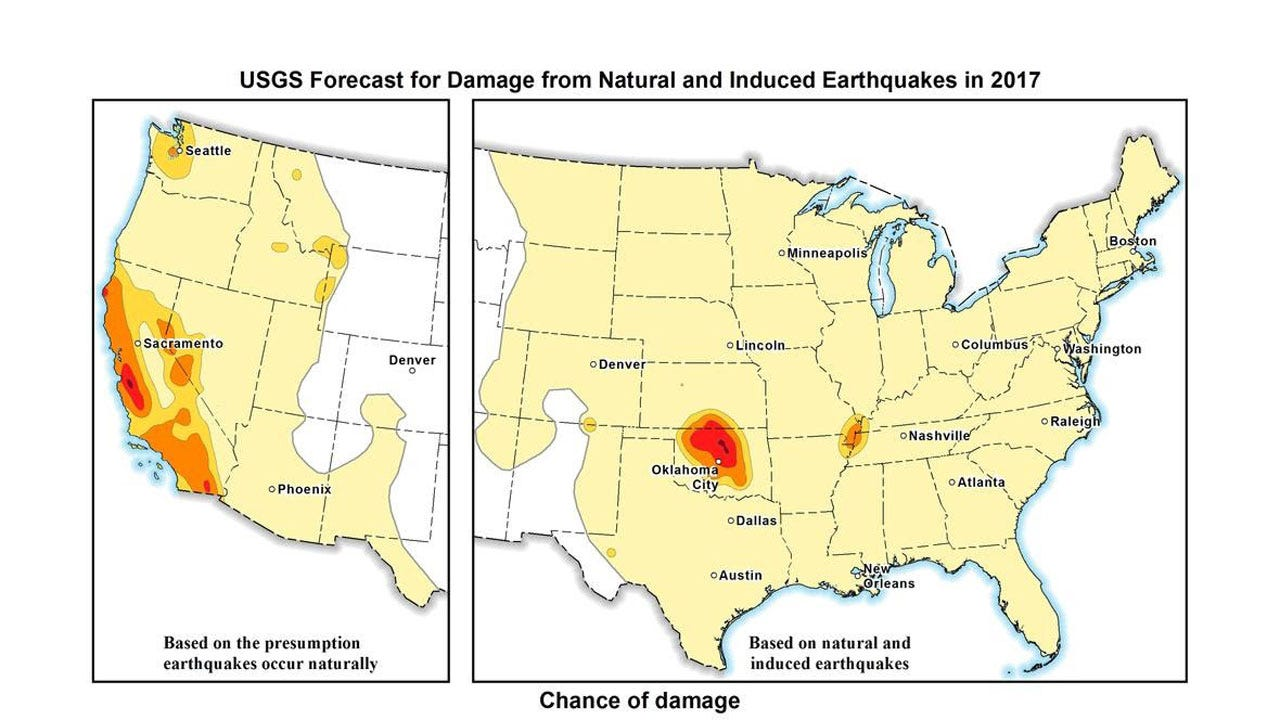 USGS: Oklahoma, Kansas Have Significant Potential For Damaging Earthquakes In 2017