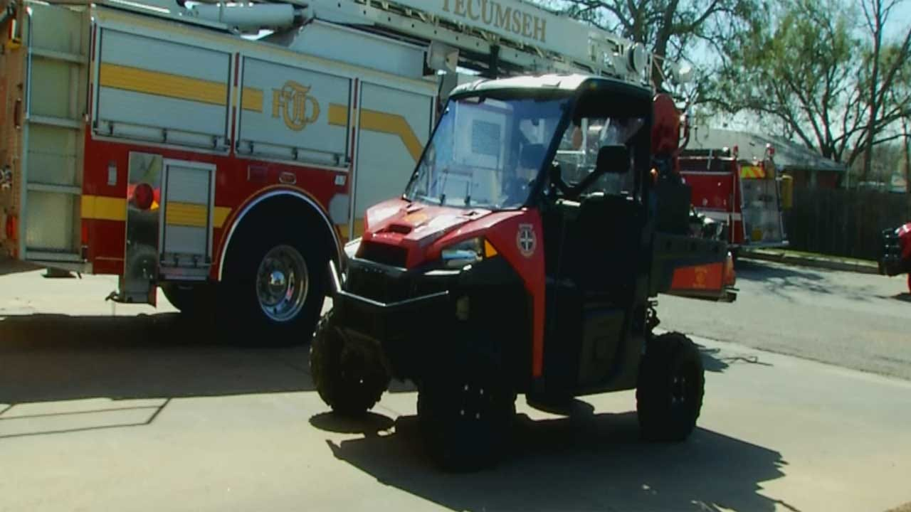 Tecumseh Fire Crews Use New UTV To Fight Wildfires