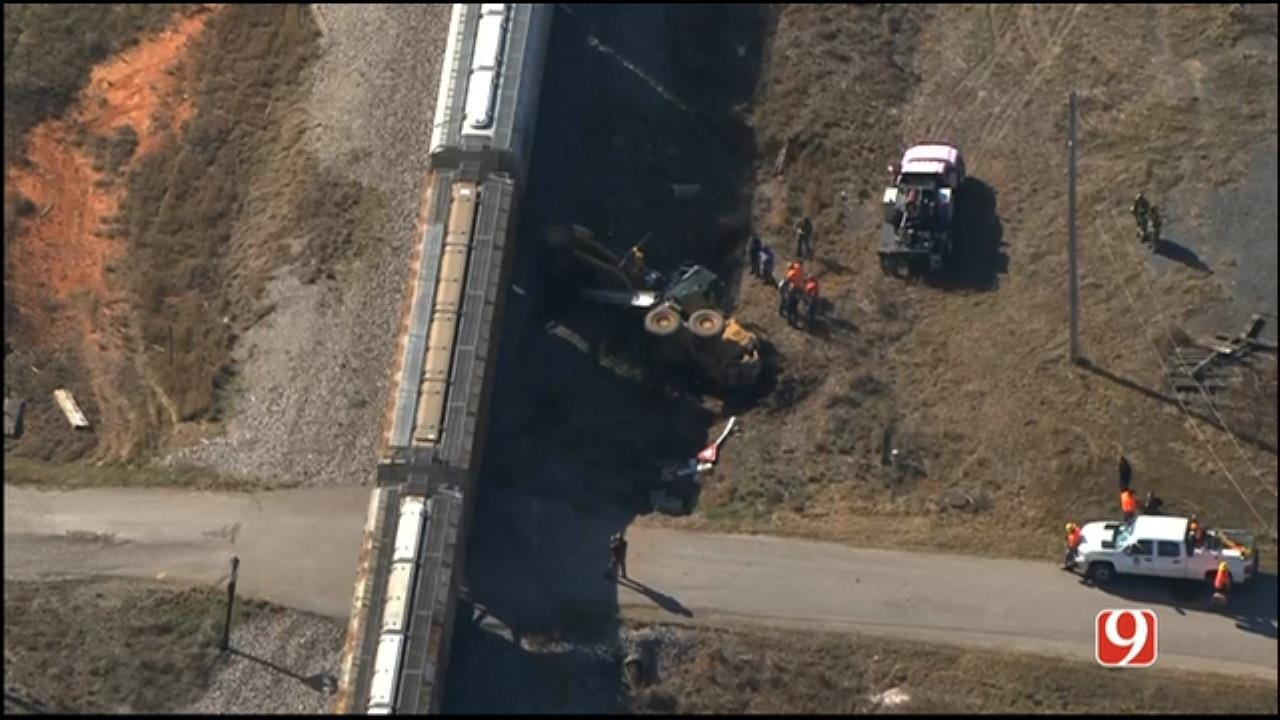 Road Grader Driver Injured In Collision With Train In Grady County