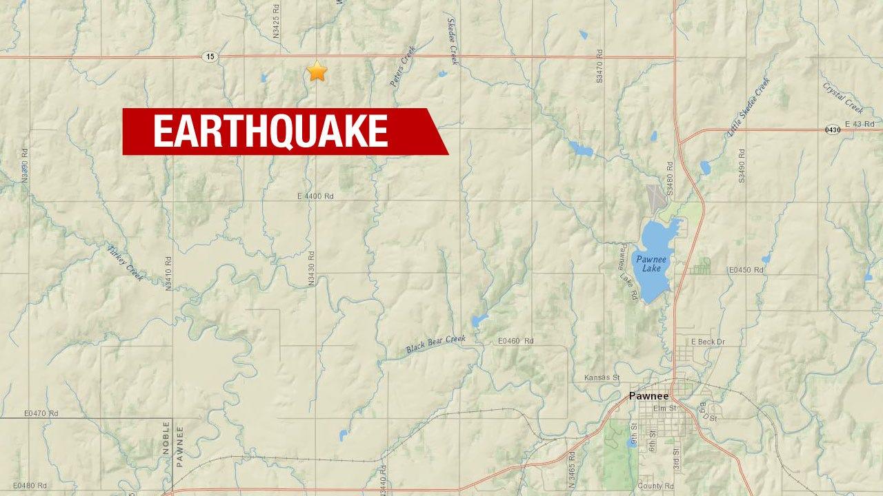 3.2 Magnitude Quake Shakes Near Pawnee