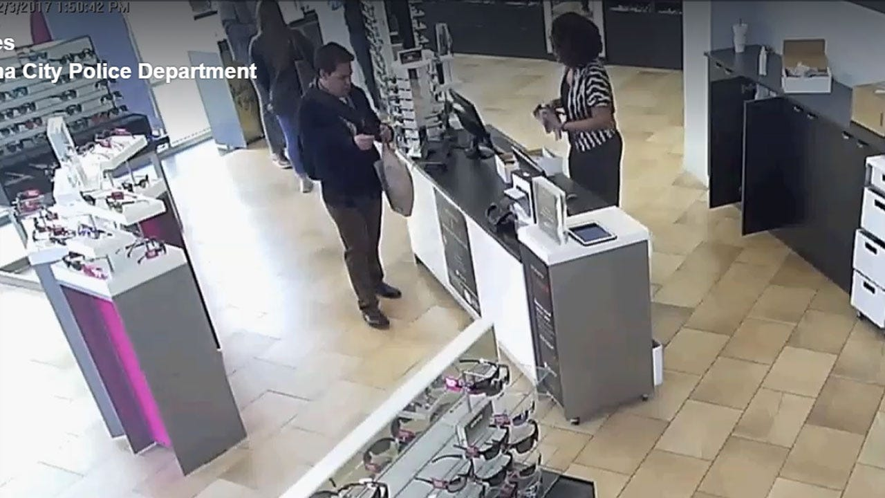 Suspect Sought In Theft Of $200 Sunglasses From OKC Outlet Mall