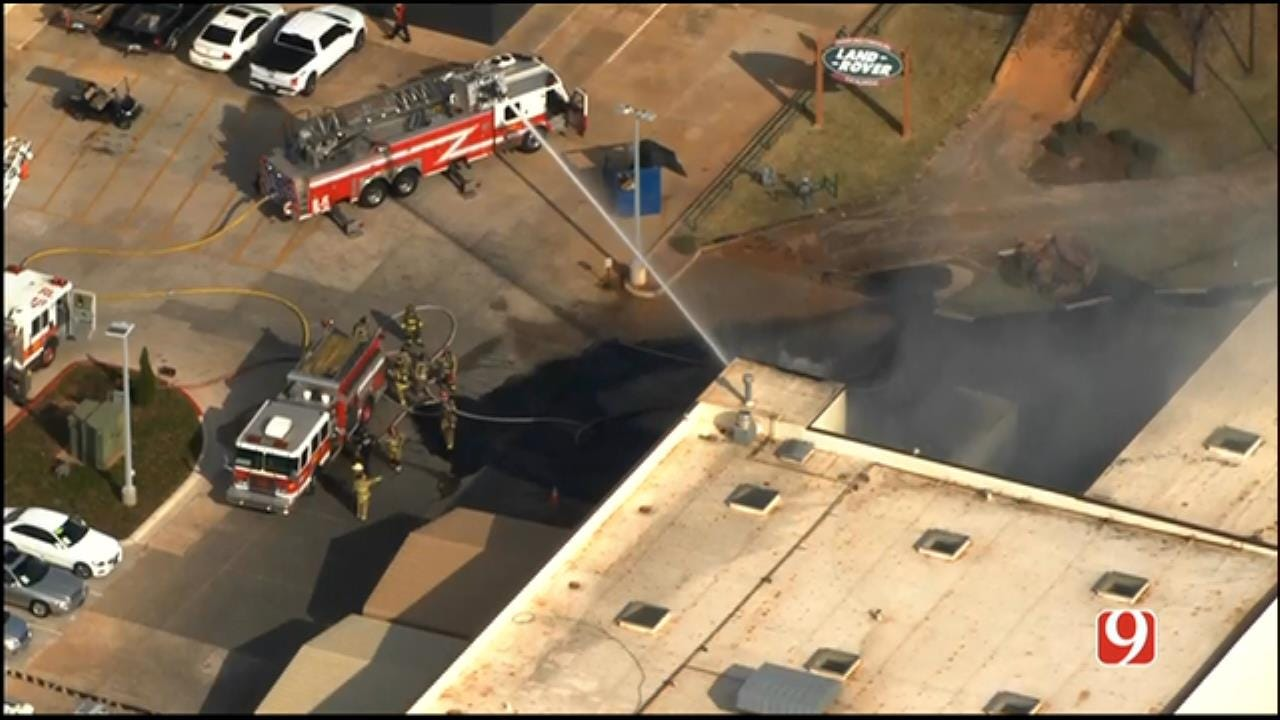 Tire Fire Spreads To Car Dealership In North OKC
