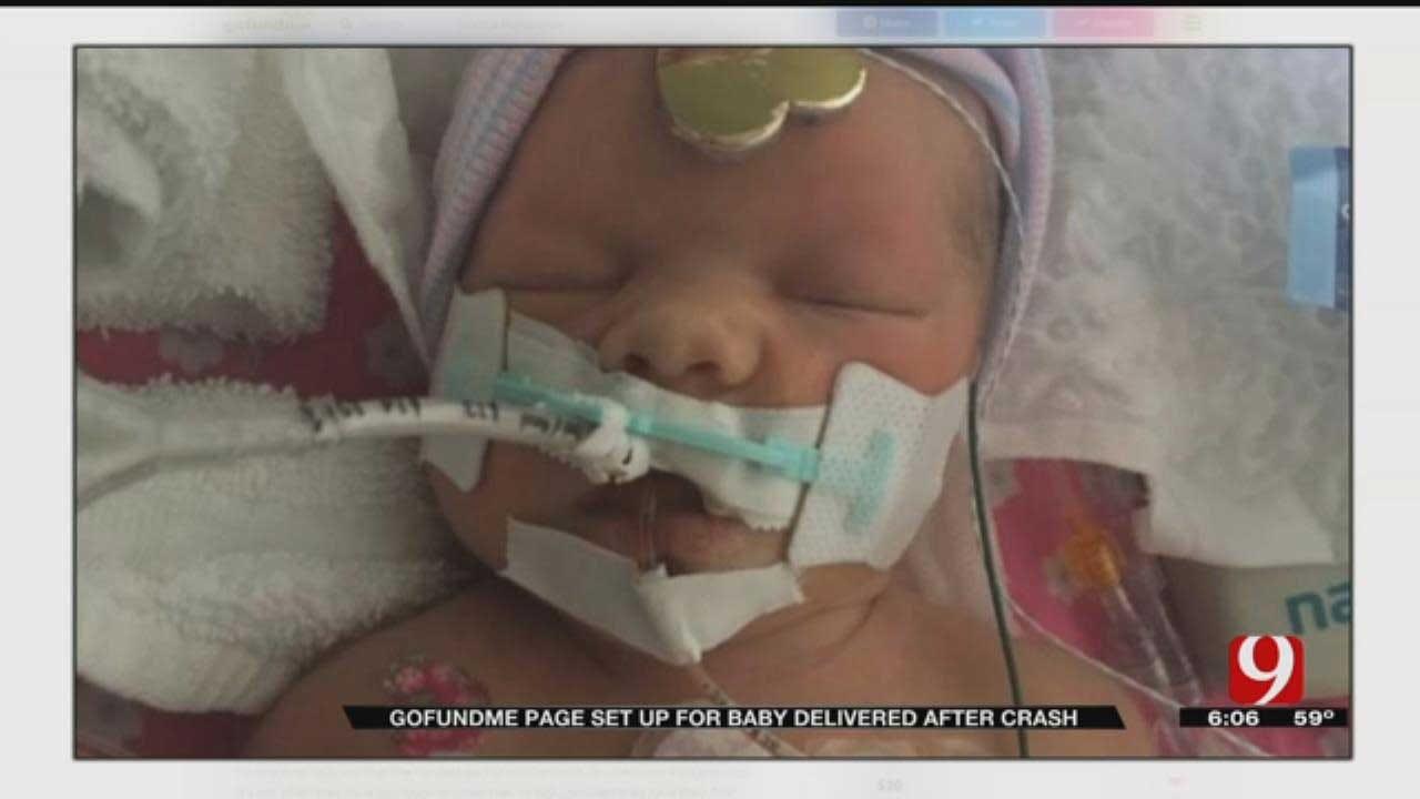 GoFundMe Page Set Up For Baby Delivered After Fatal OKC Crash