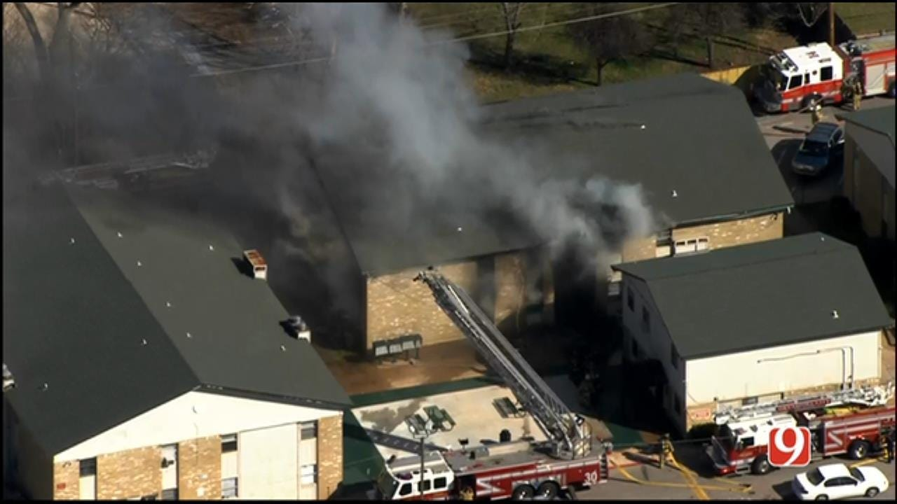Firefighters Battle Apartment Fire In NW OKC