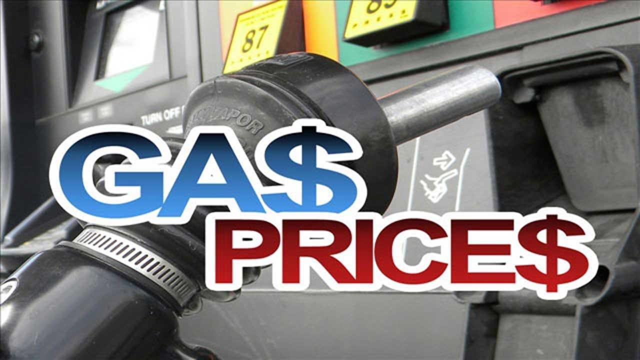 Gas Prices Fall 4.1 Cents Per Gallon In OKC