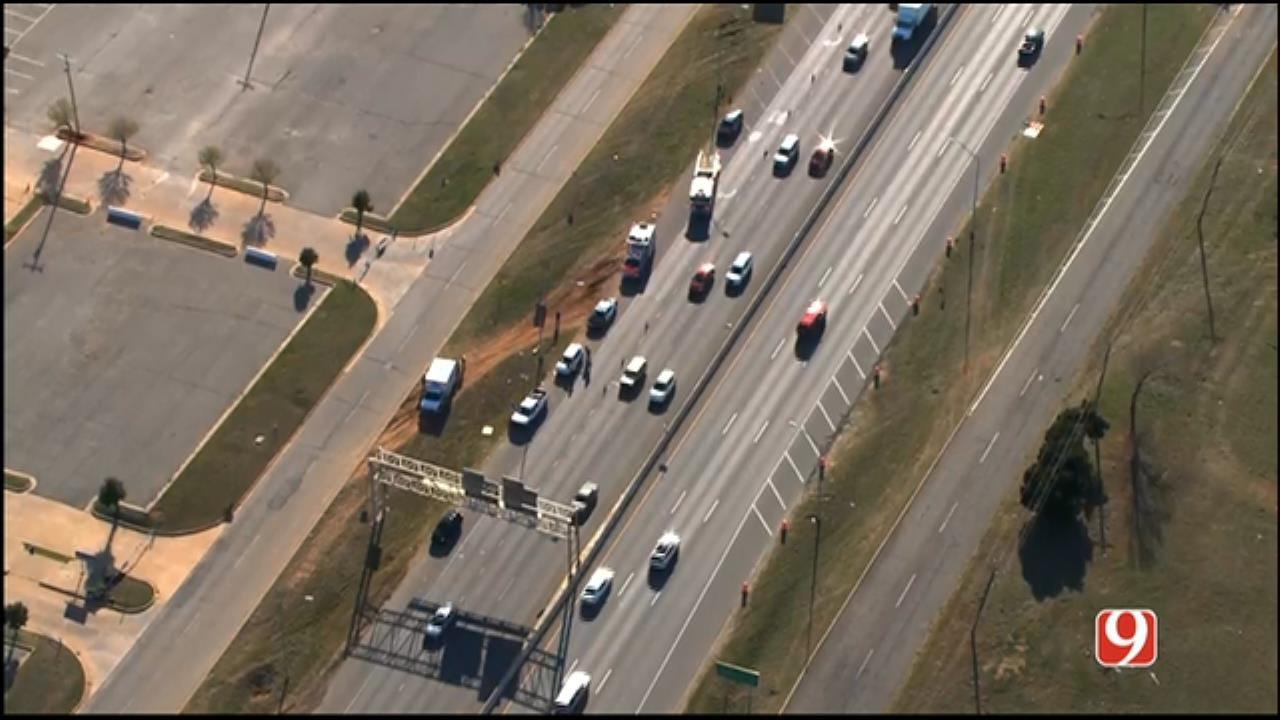 Traffic Backed Up On EB I-240, Near I-35, After Multi-Vehicle Crash