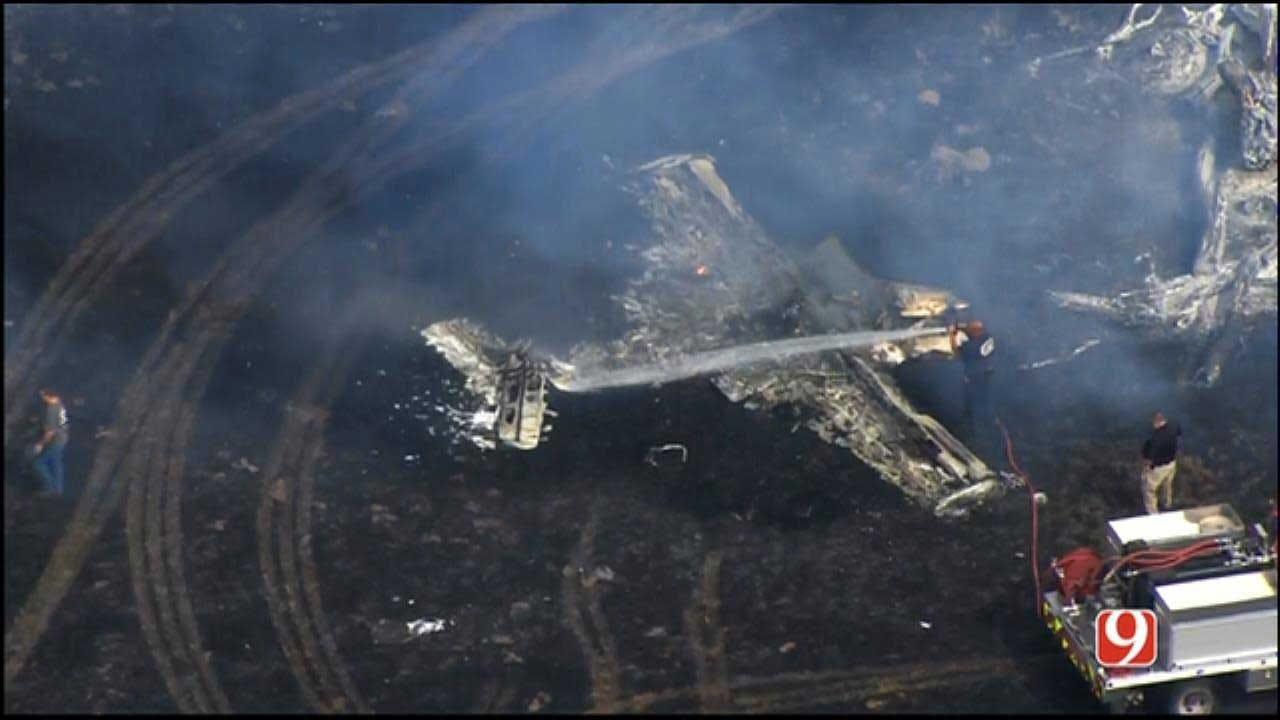 Fatal Plane Crash Sparks Wildfire Near Union City