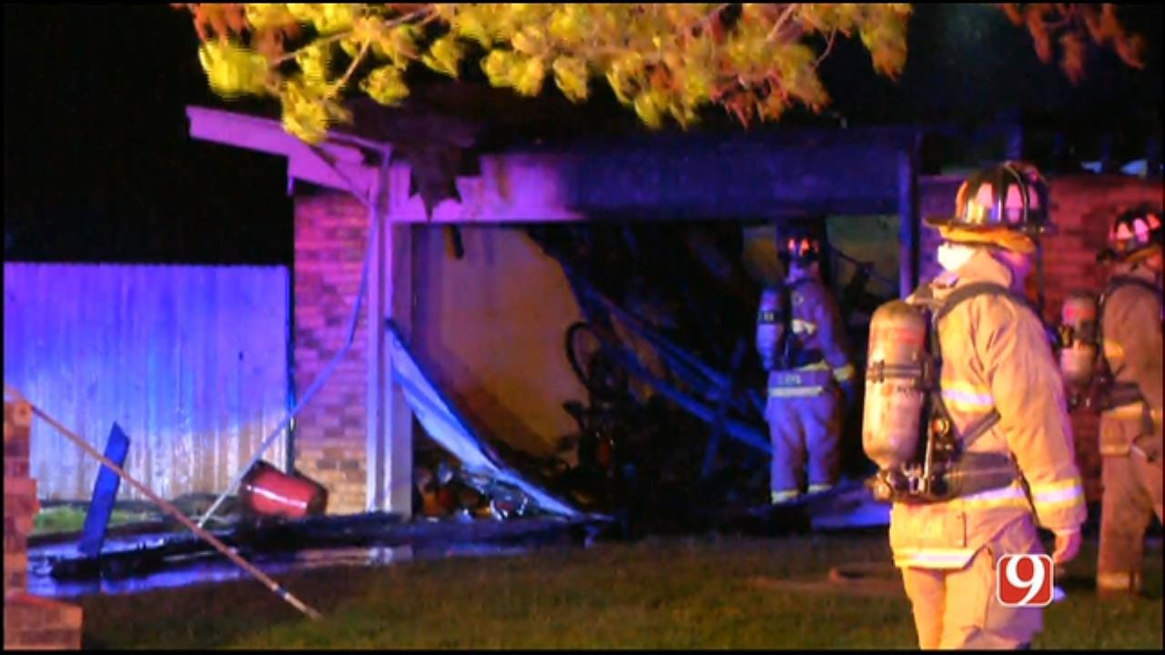 Firefighters Fight House Fire In NW OKC