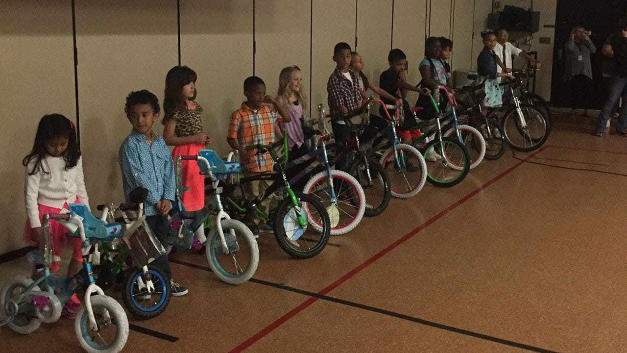 Del City Police, Walmart Donate 36 Bicycles To Reading Contest Winners