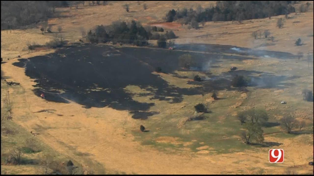 Crews Douse Wildfire Southwest Of Stillwater