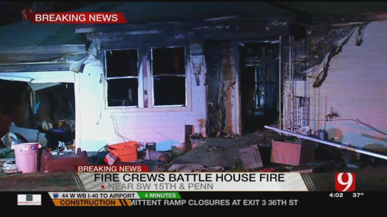 Fire Rips Through SW OKC Home Overnight