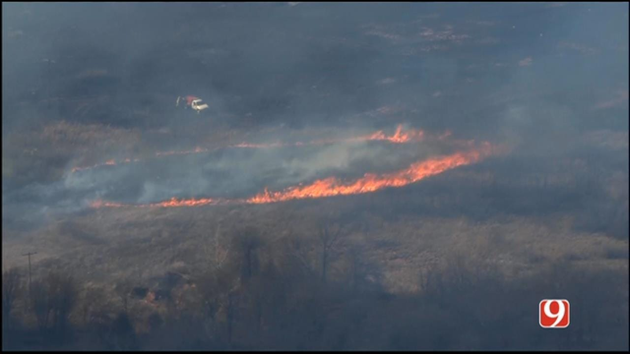 Hot Spots Continue To Flare Up In NW OK Wildfire