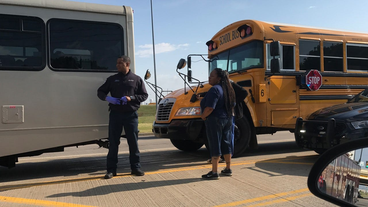 Morning Traffic Backed Up After Bus Crash In Edmond