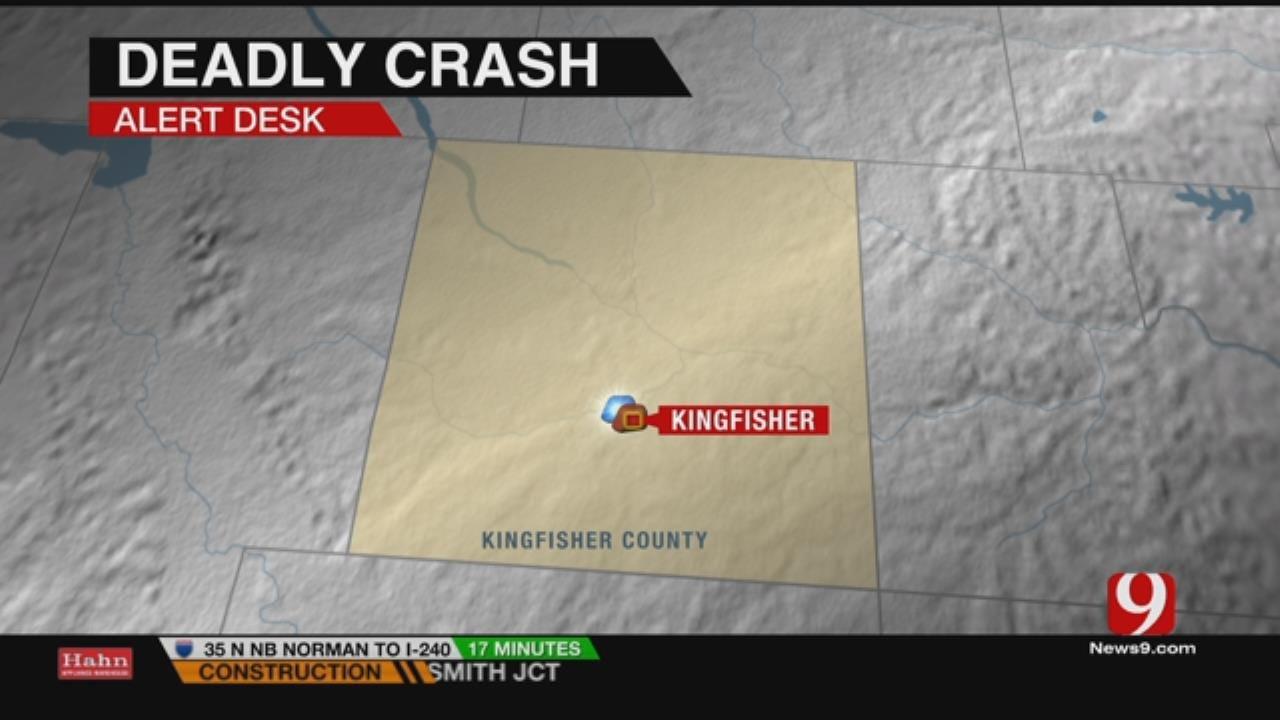Crash Near Kingfisher Kills One, Leaves Child Critical