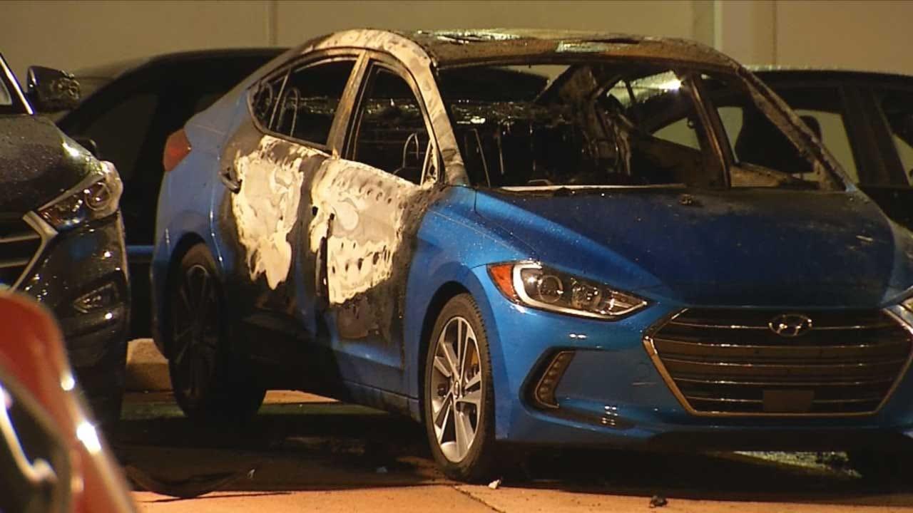 Crews Put Out Car Fire At Edmond Dealership