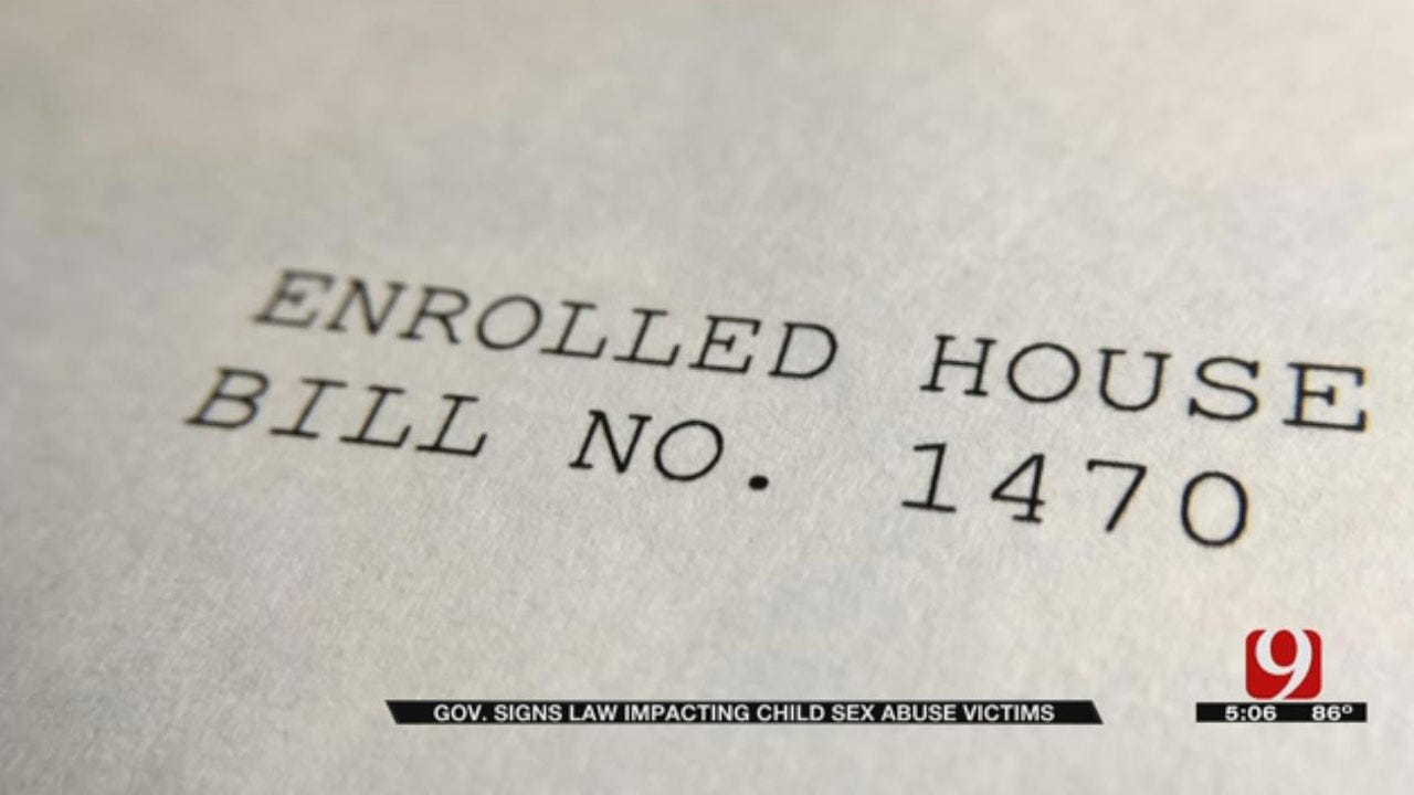 Child Abuse Bill Becomes Law In Oklahoma, Amendment Sparks Controversy