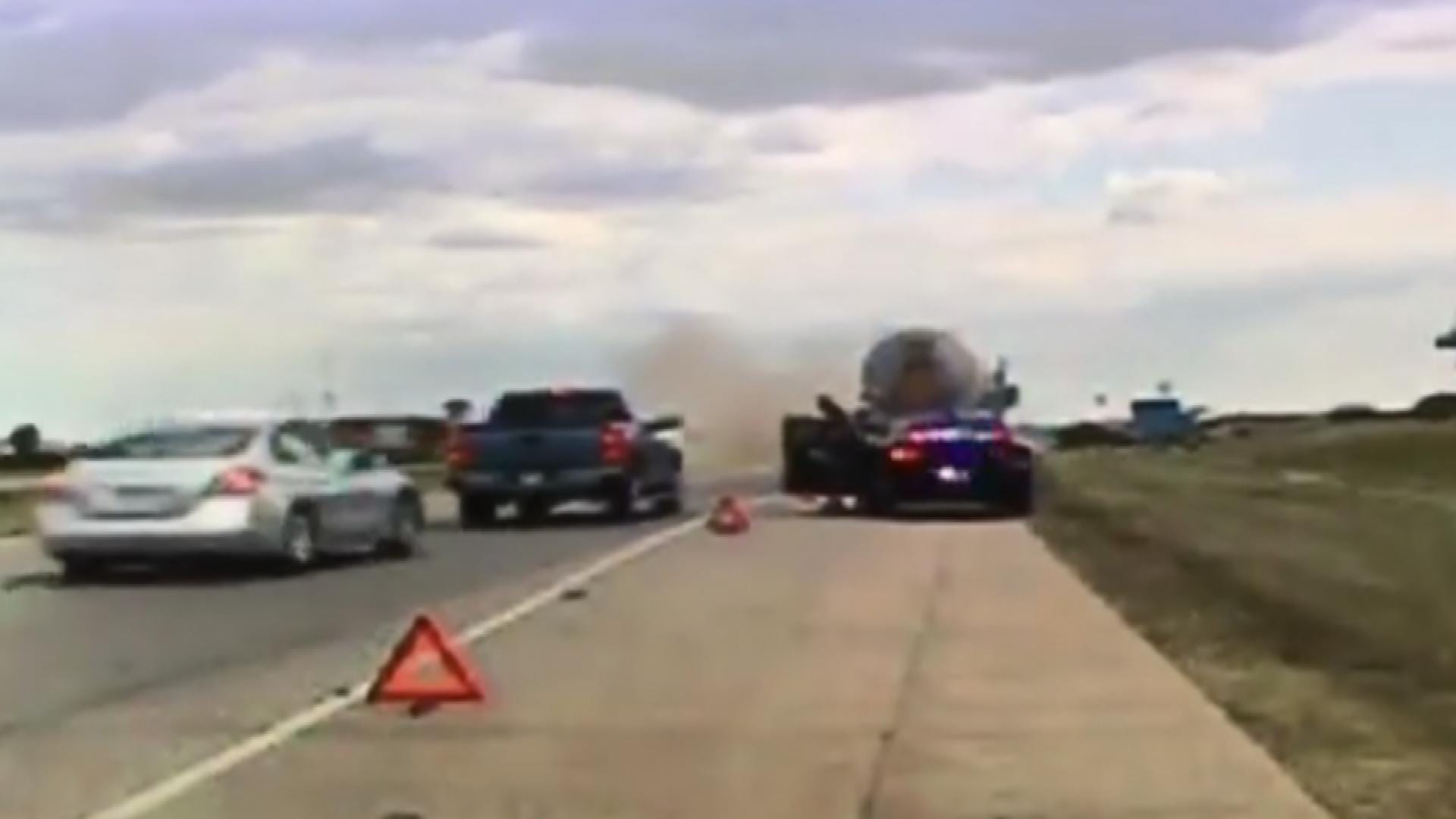 OHP Urges Safety, Awareness After Close Call On I-35 In Ardmore