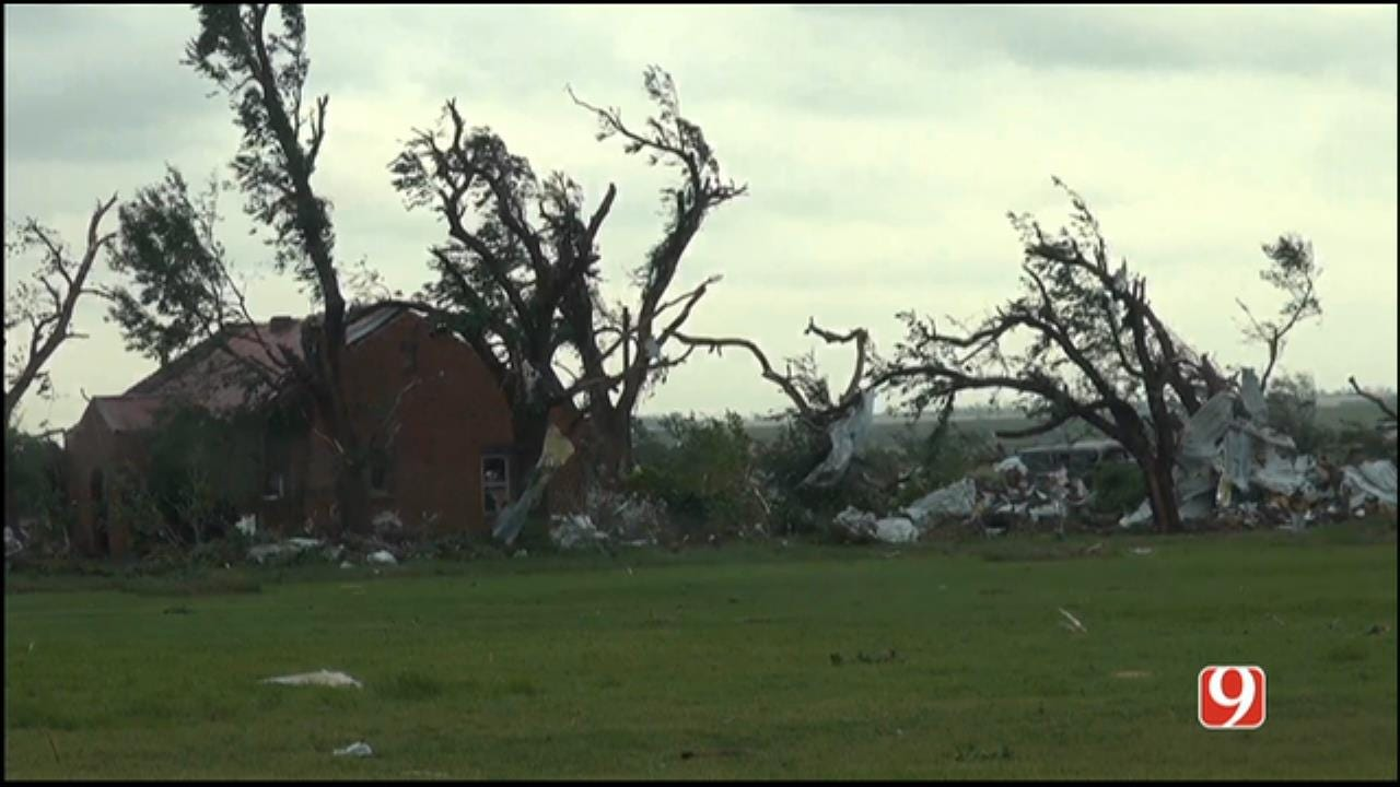 WEB EXTRA: Aerial View Of Elk City Damage