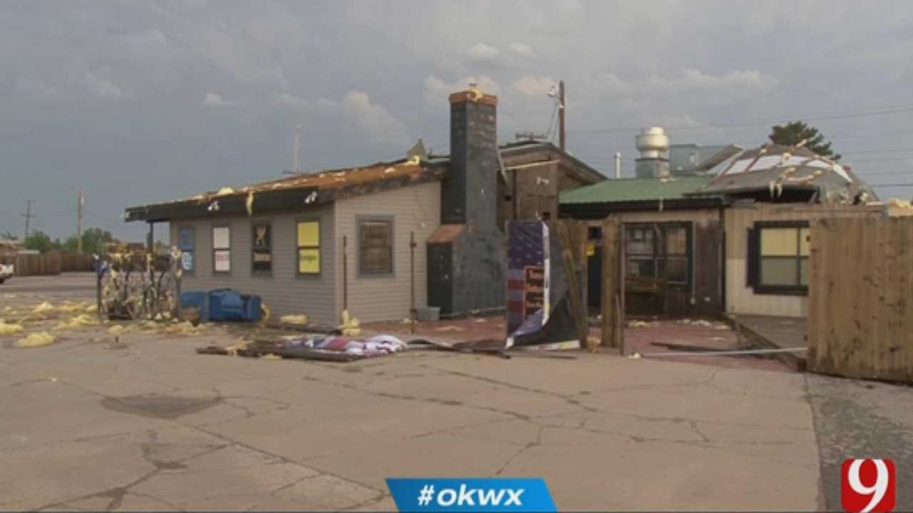 Storm Damages Property, Snaps Power Lines In Cordell