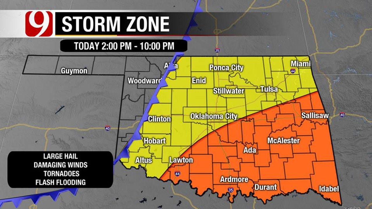 Tornado Threat Increases Into Afternoon, Friday Storms Capable of Large Hail, Damaging Wind