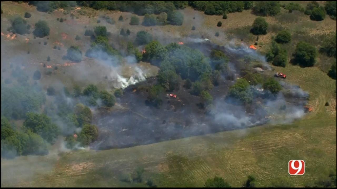 Crews Battle Wildfire East Of The Metro