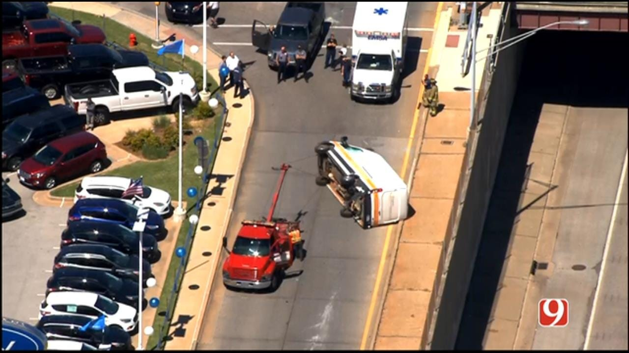 Overturned Delivery Truck Impedes Traffic Off I-44 & May