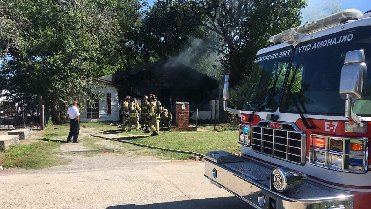 Crews Douse Fire At Vacant SE OKC Home