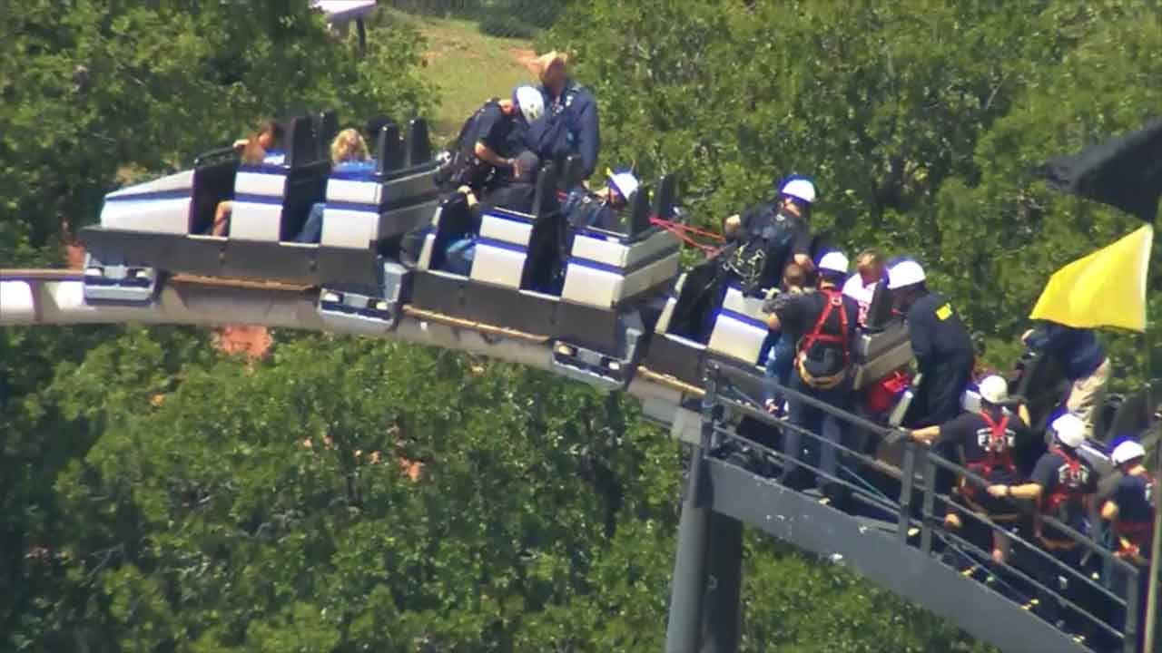 Rider Talks About Being Stuck On OKC Roller Coaster