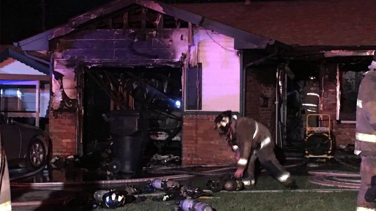Firefighters Fight SW OKC House Fire