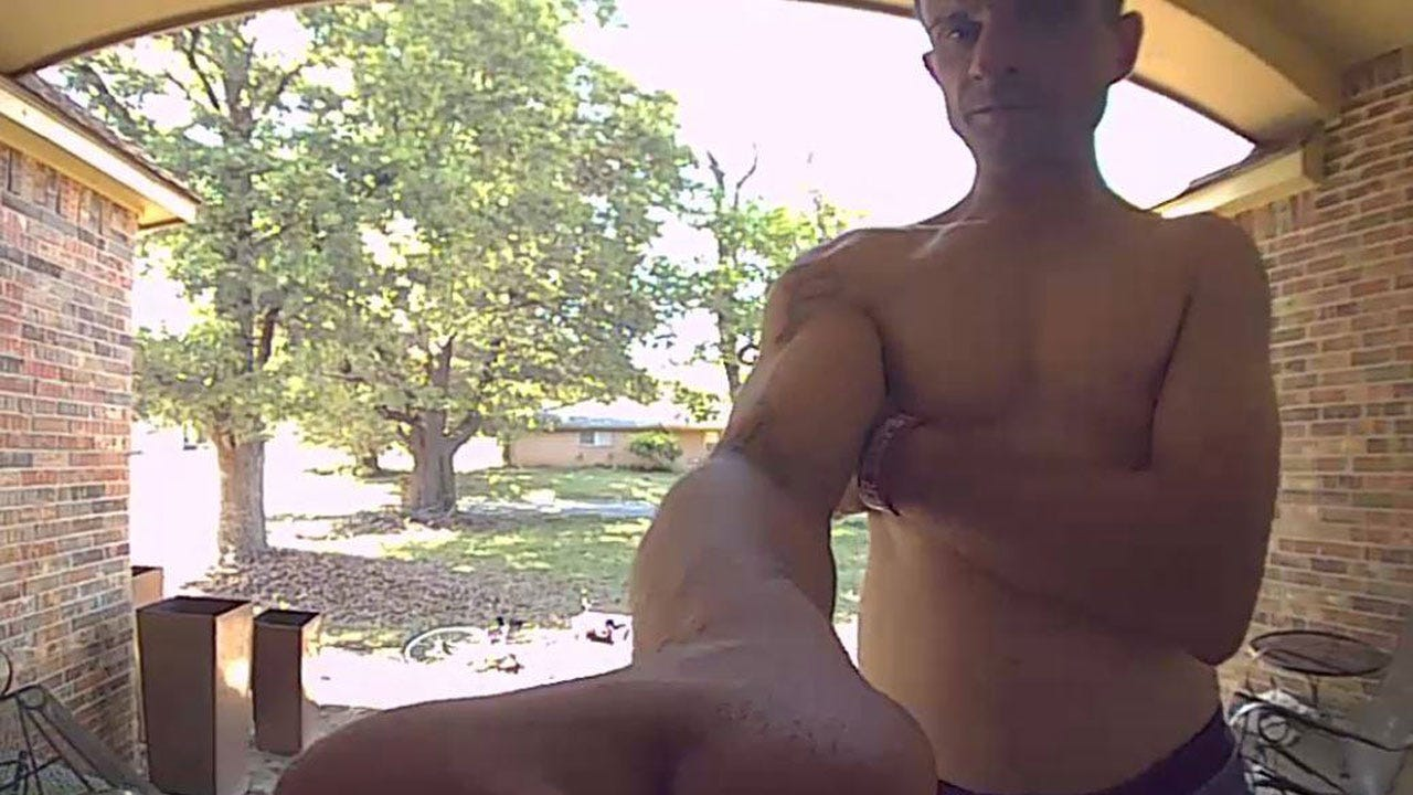 Shirtless Burglar Confronted By NW OKC Homeowner