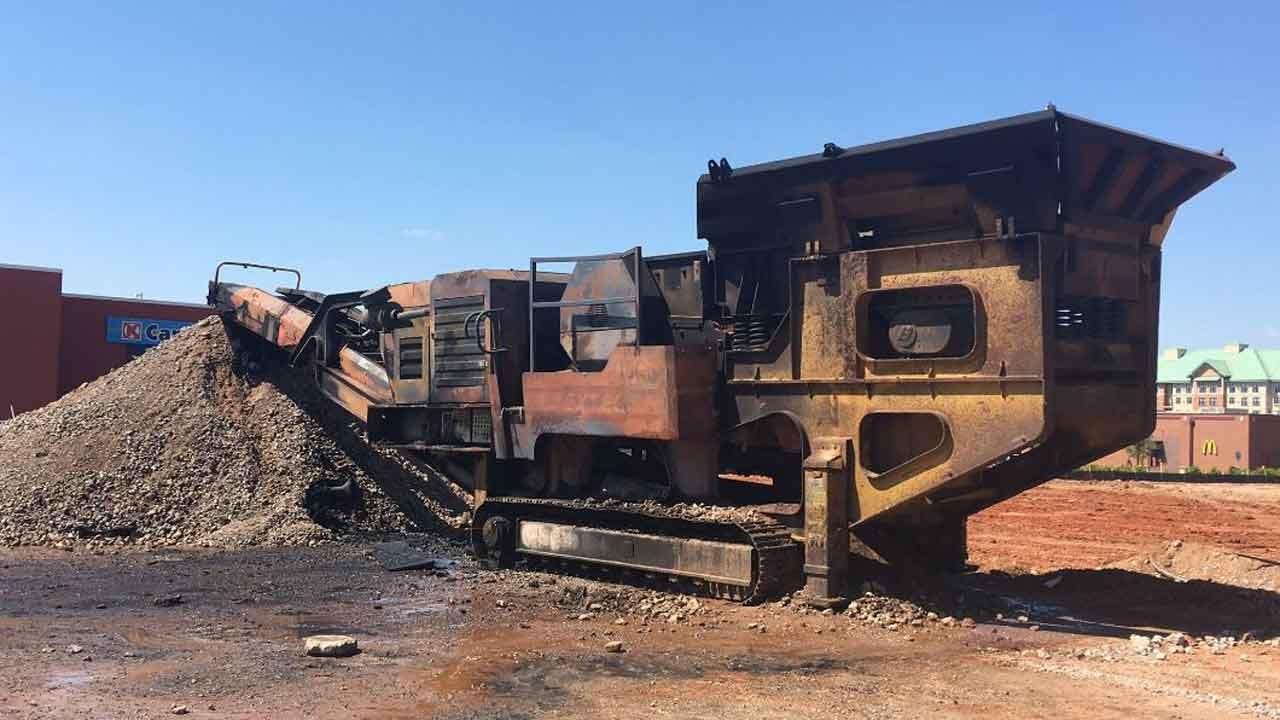 Fire Crews Douse Heavy Equipment Blaze At Bricktown Construction Site