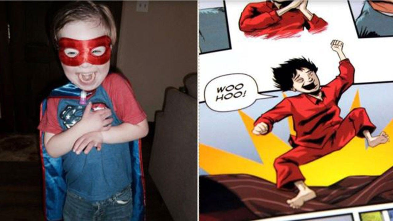 Dad Creates Comic Book Character With Down Syndrome For His Son