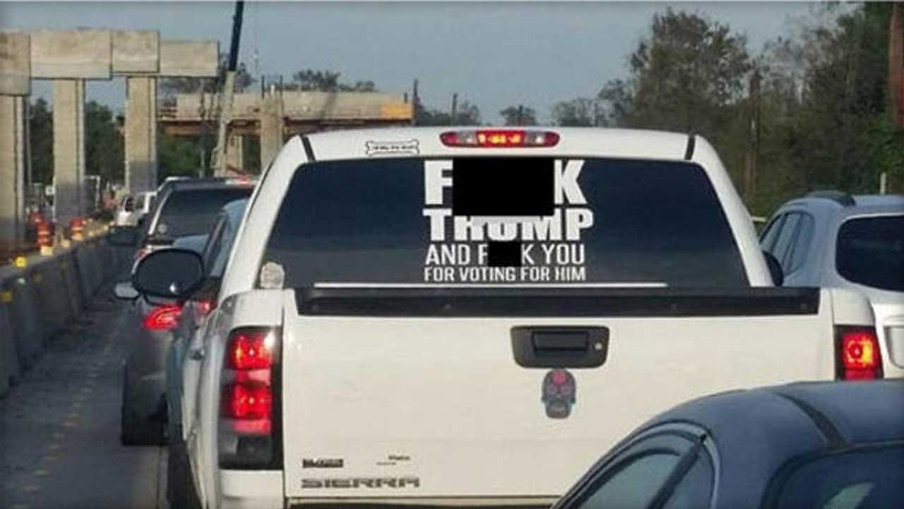 Texas Sheriff Concerned With Anti-Trump Sticker On Truck Window