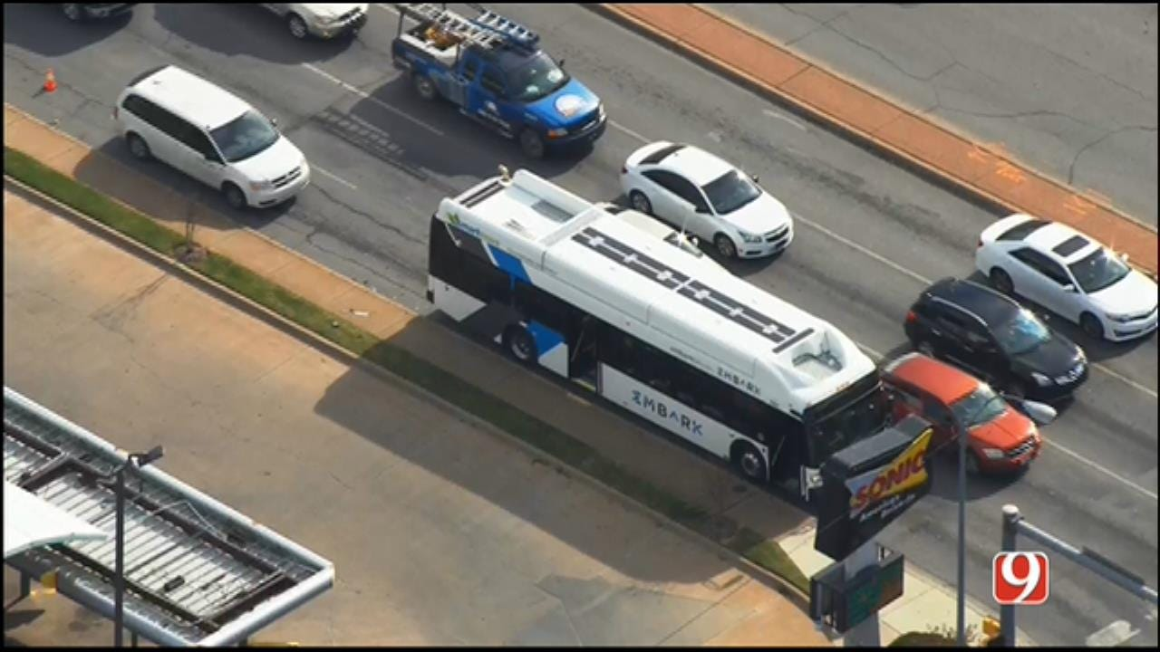 City Bus Involved In Minor Crash In NW OKC