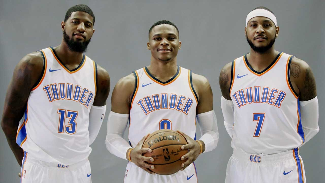 Thunder's 'Big 3' Gets First Warriors Test Tonight