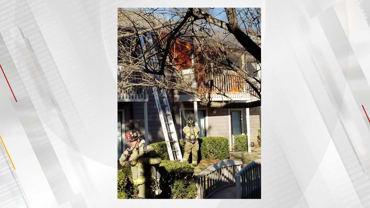 Crews Battled NW OKC Apartment Fire