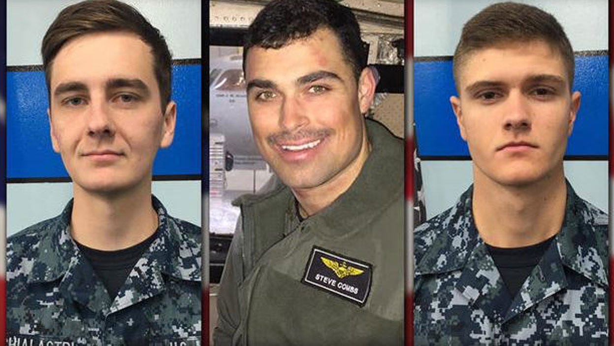 Navy Names Sailors Still Missing After Pacific Plane Crash