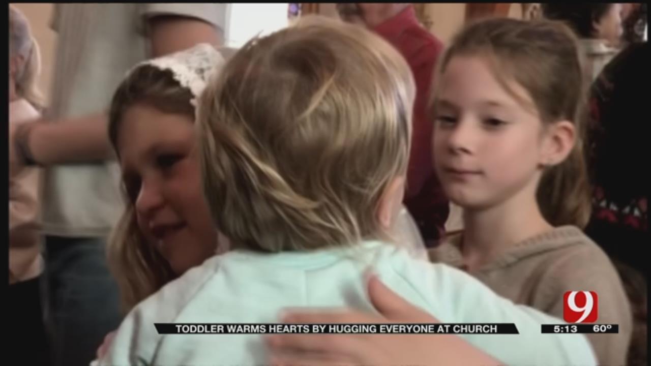 Toddler Warms Hearts By Hugging Everyone At Church