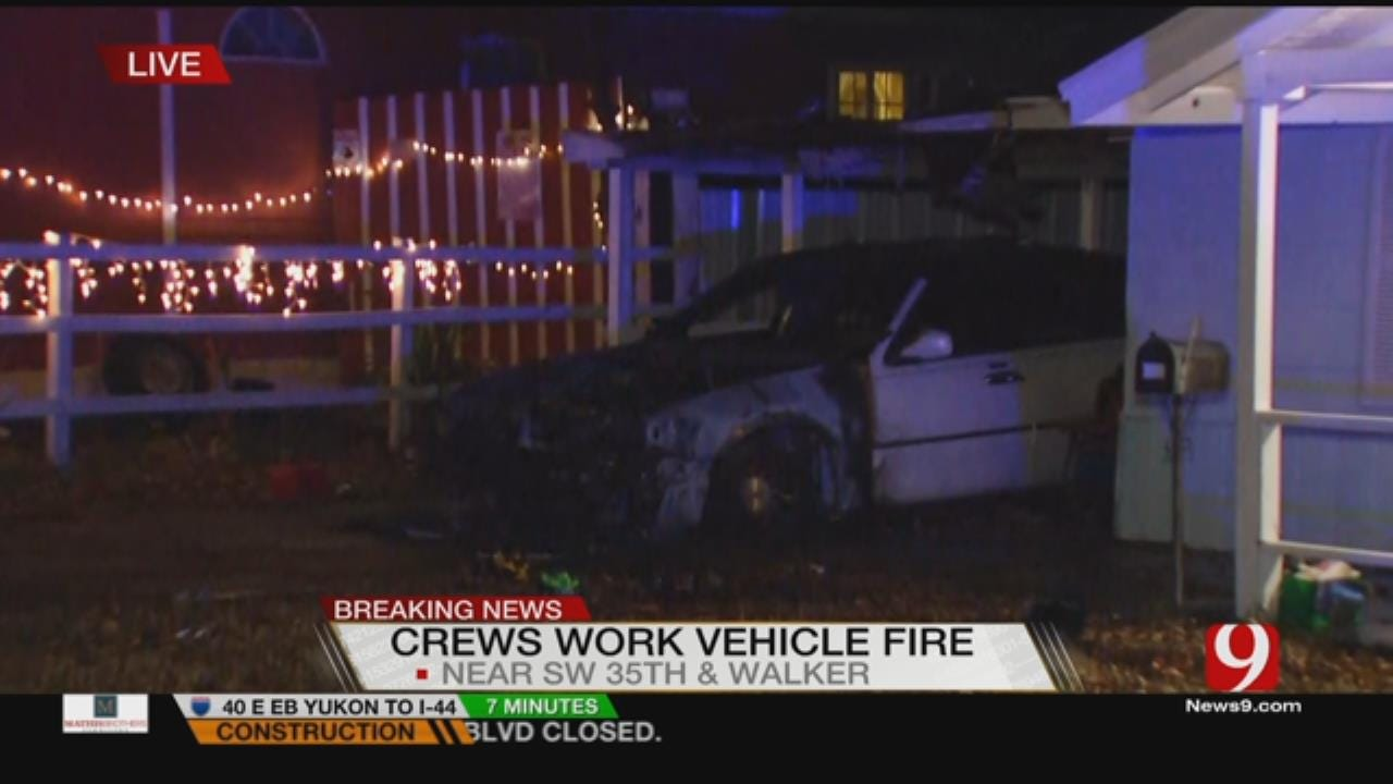 Firefighters Put Out Suspicious Vehicle Fire In SW OKC