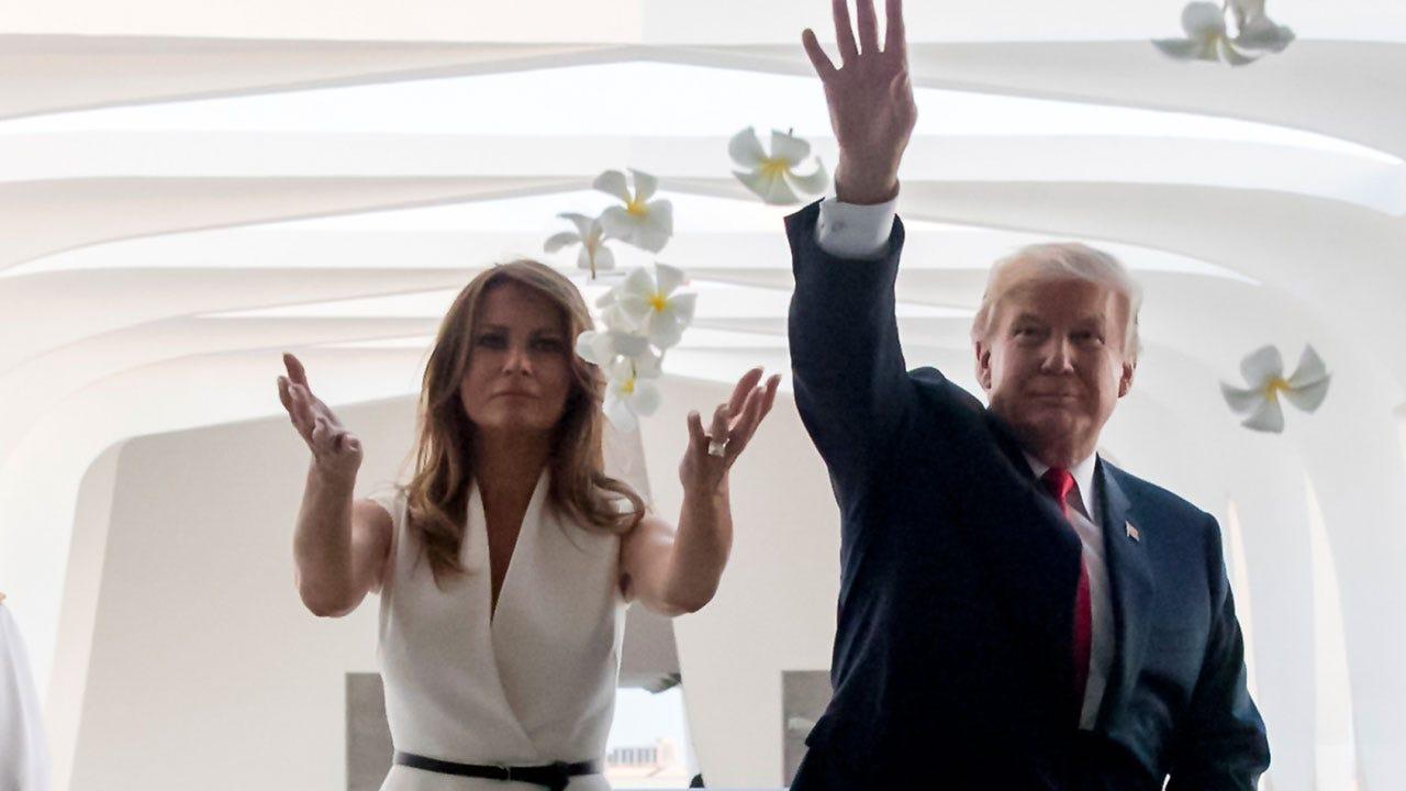 President Donald Trump Visits Pearl Harbor Ahead Of Asia Trip